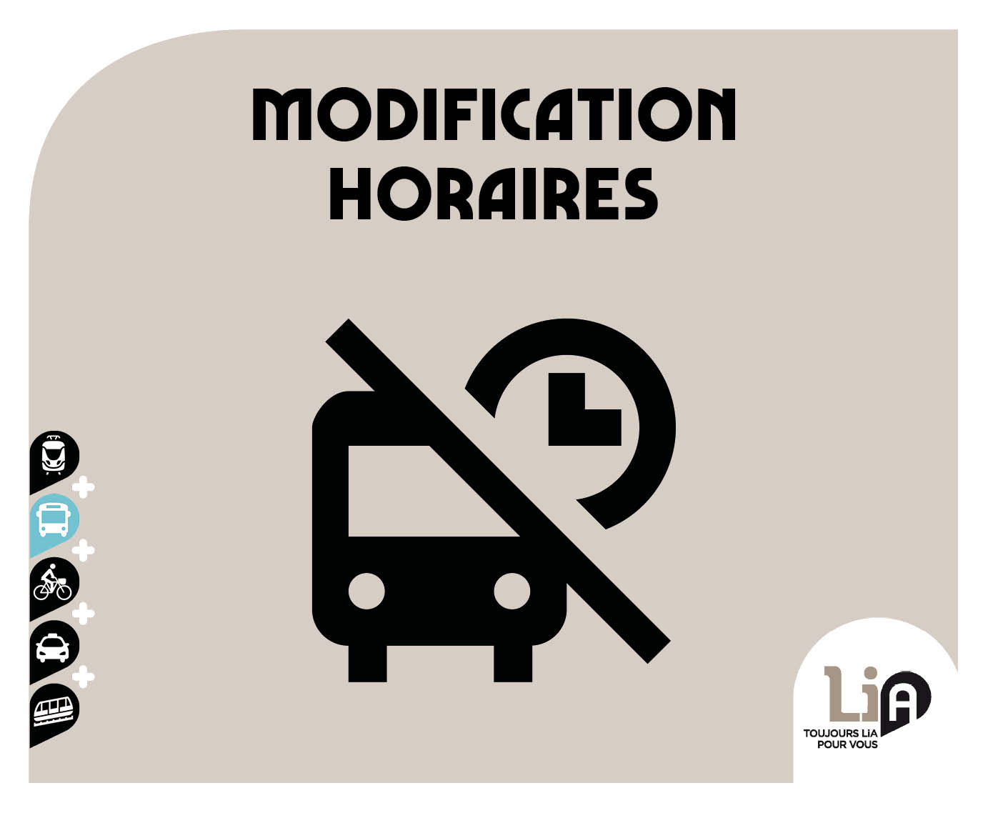 Modification d'horaires